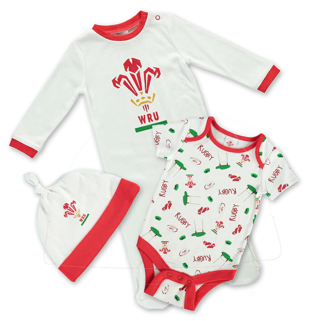 WRU Official Welsh Rugby Baby Gift Set