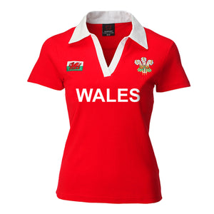 Ladies short sleeved Wales rugby shirt