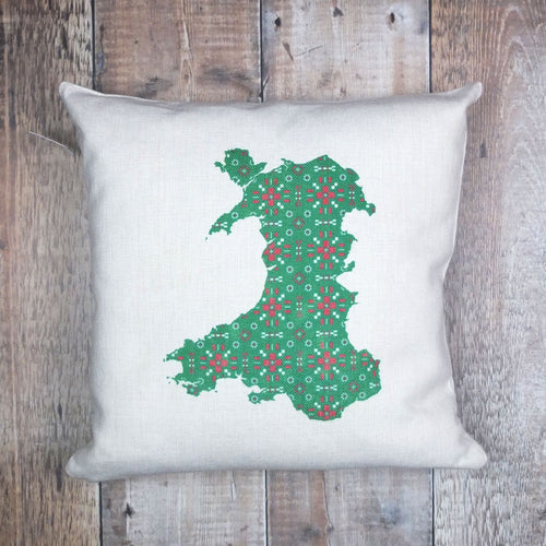 Welsh Tapestry Map Cushion