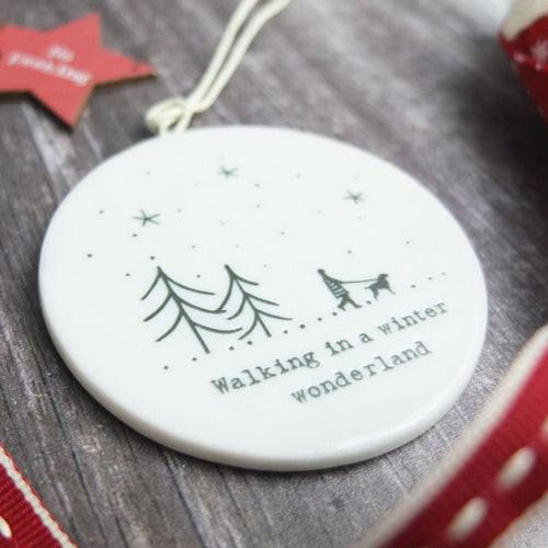Walking in a Winter Wonderland Tree Decoration