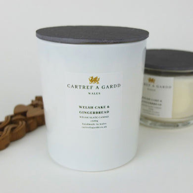 Welshcake and Gingerbread Large Candle by Cartref a Gardd