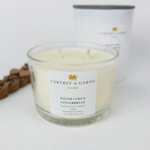 Welshcake and Gingerbread Small Glass Candle