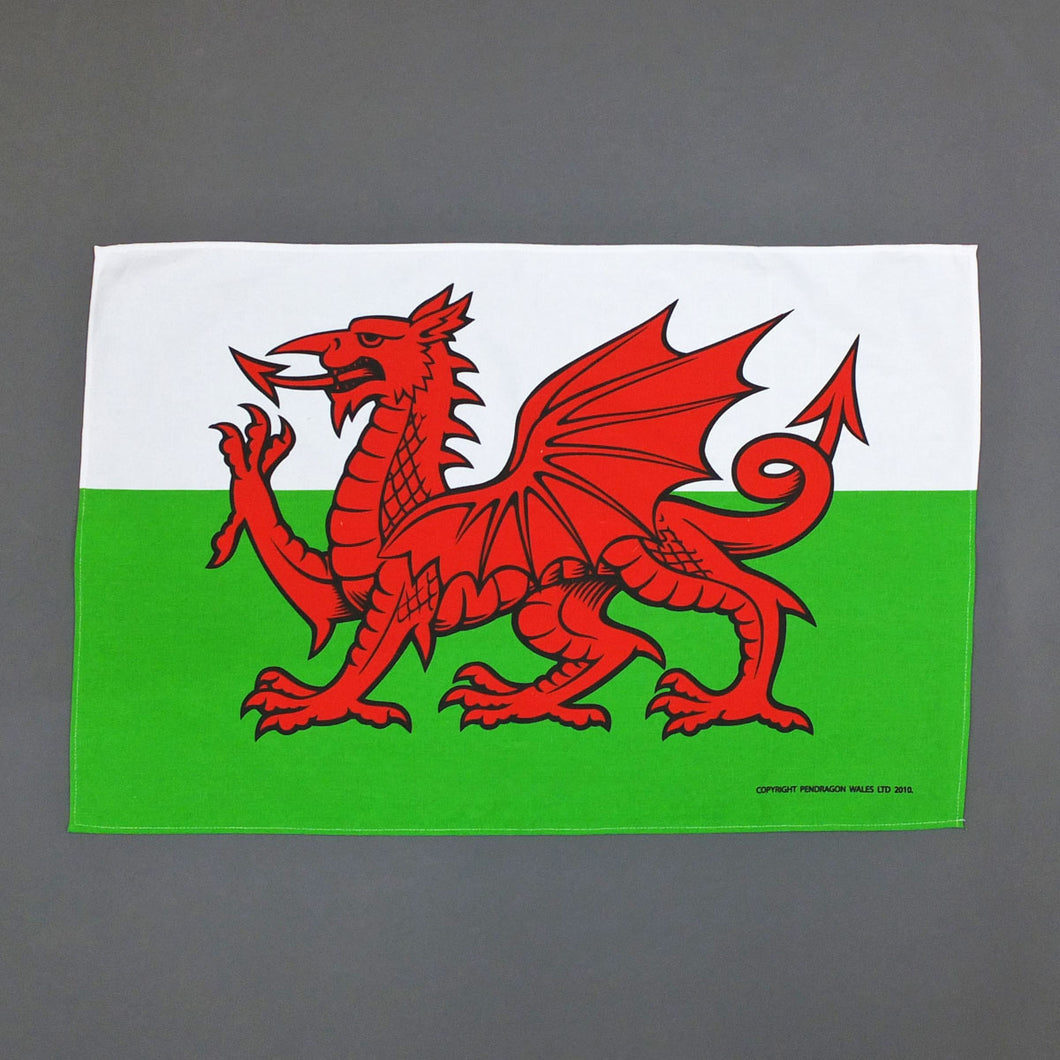Welsh Flag Tea Towel