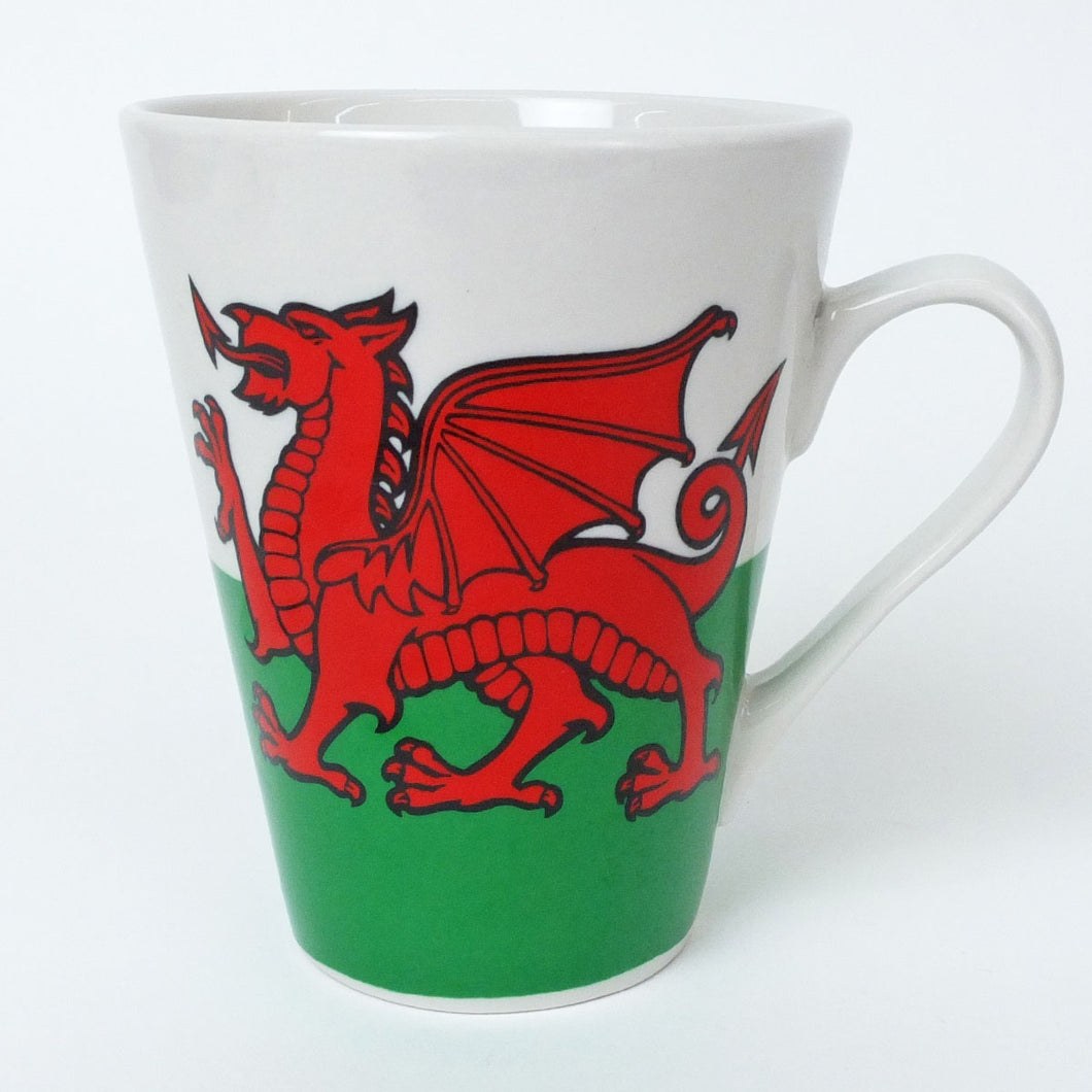 Welsh Flag Latte Mug
