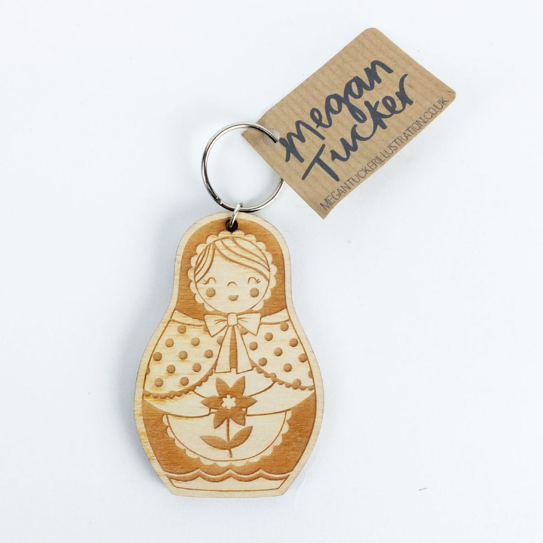 Welsh Doll Key Ring by Megan Tucker