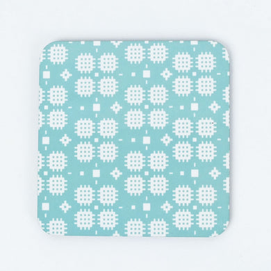 Welsh Tapestry Coaster Turquoise Green