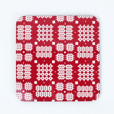 Welsh Tapestry Coaster Red