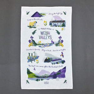 Welsh Valleys Tea Towel