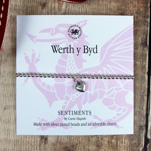 Werth y Byd Sentiment Bracelet by Carrie Elspeth