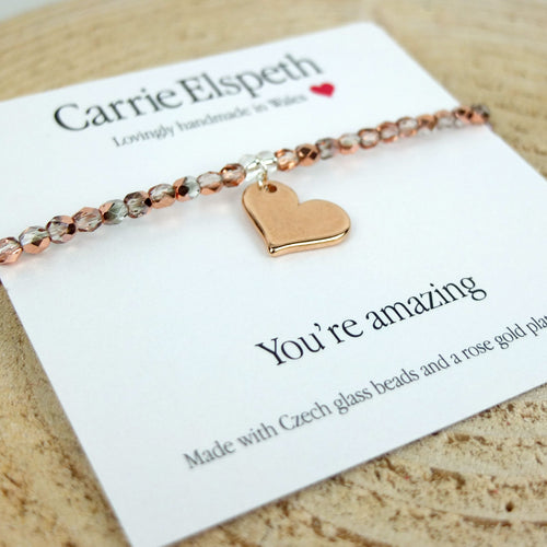 Carrie Elspeth 'You're Amazing' Sentiment Bracelet