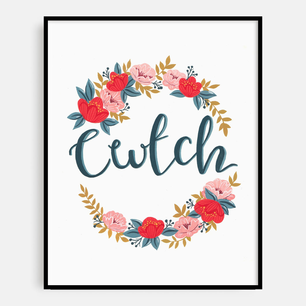 Floral Cwtch Print