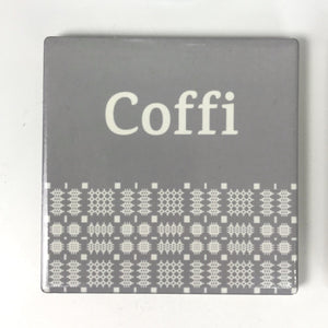 Coffi Welsh Tapestry Coaster