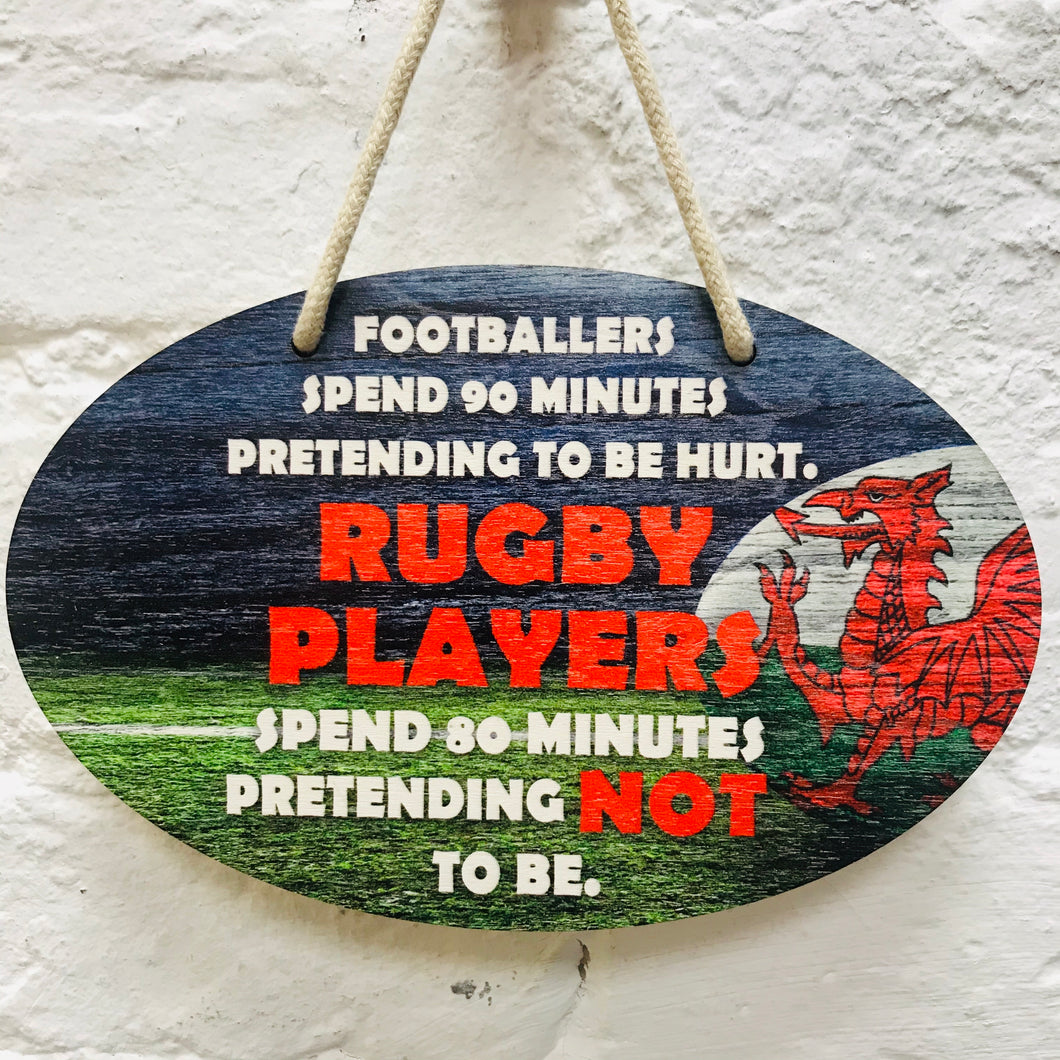 Rugby Players Plaque