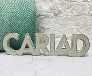 Wooden Daisy Cariad Sign