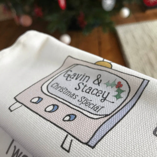 Christmas in Wales Tea Towel