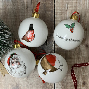 Round Robin  Bone China Bauble