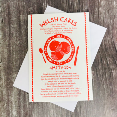 Red Welsh Cake Card
