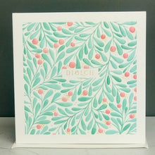 Embossed Diolch Foliage Card