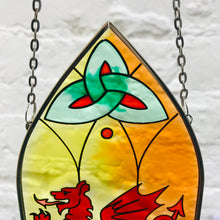 Stained Glass Hanging Panel