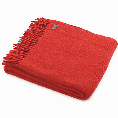 Red Wafer Throw by Tweedmill