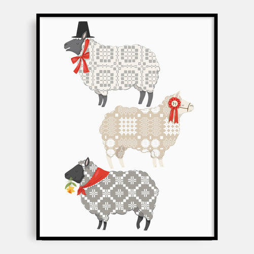 Tapestry Sheep Print