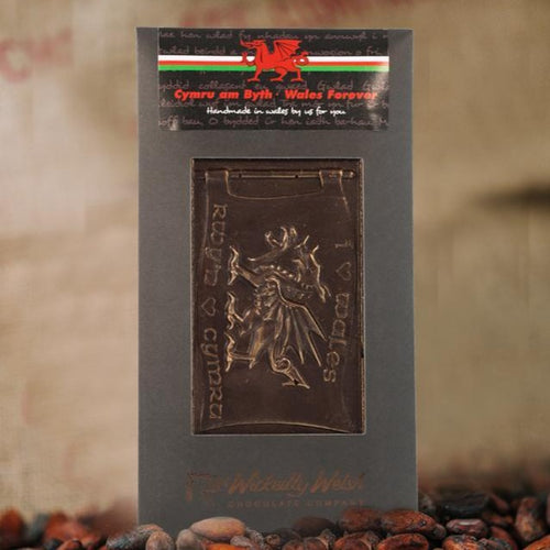 Dark Chocolate Welsh Flag by Wickedly Welsh