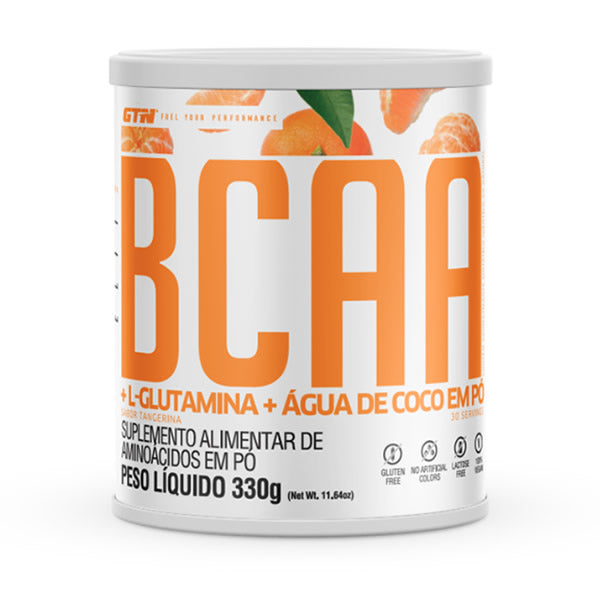 Pote do Elite BCAA sabor laranja, 330g.