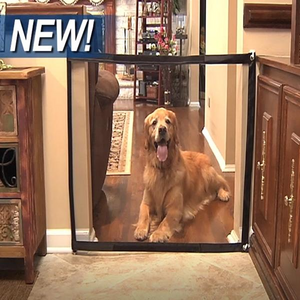 Top Selling Dog Mesh Gate For Dogs Safe Guard and Install Pet Dog Safety Enclosure Dog Fences