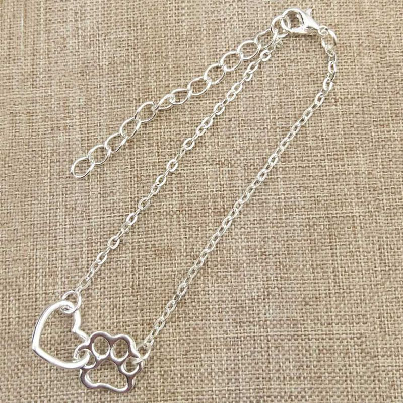 Top Selling Pet Bracelet Cute Animal Tassut Cat Dog Love Heart Charm Bracelet for Women pulseras