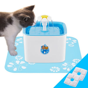 UK/EU/US Plug 2.5L Automatic Cat Water Fountain Electric Water Fountain Dog Cat Pet Drinker Bowl Pet Blue Drinking Fountain