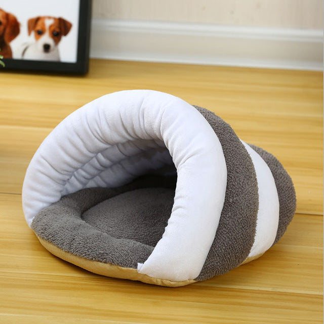 Top Selling Dog Bed Pet Cat Small Dog Puppy Kennel Bed Sofa Sleeping Soft Polar Fleece Bag House Pet Mat Winter Warm nest Puppy Cave Bed 5 ColorsS-L