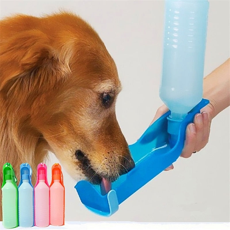 250ML/500ML Outdoor Portable Pet Dog Water Bottles Foldable Tank Drinking Design Travelling Bowl Feeding Dispenser