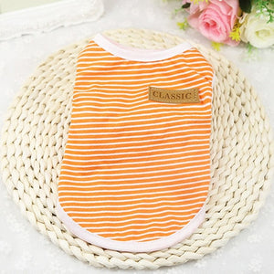 Best Selling Summer Pet Clothes for Cat Vest Clothes For Small Cats Animal Cotton Fashion Stripe Clothes For Cats Vest Chihuahua York 36 A1