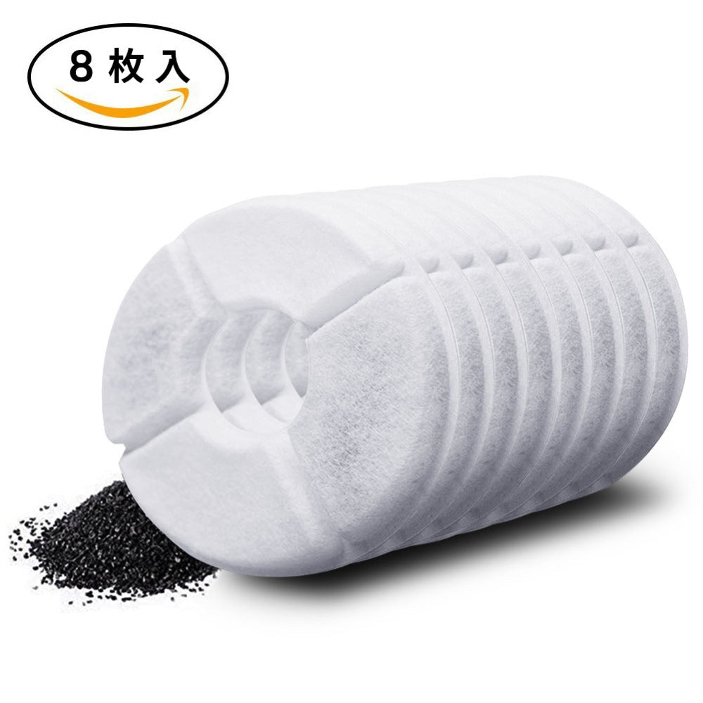 8pcs/lot Activated Carbon Filter For 1.8L LED Automatic Water Drinking Fountain Cat Dog Kitten Pet Bowl Drink Dish Filter