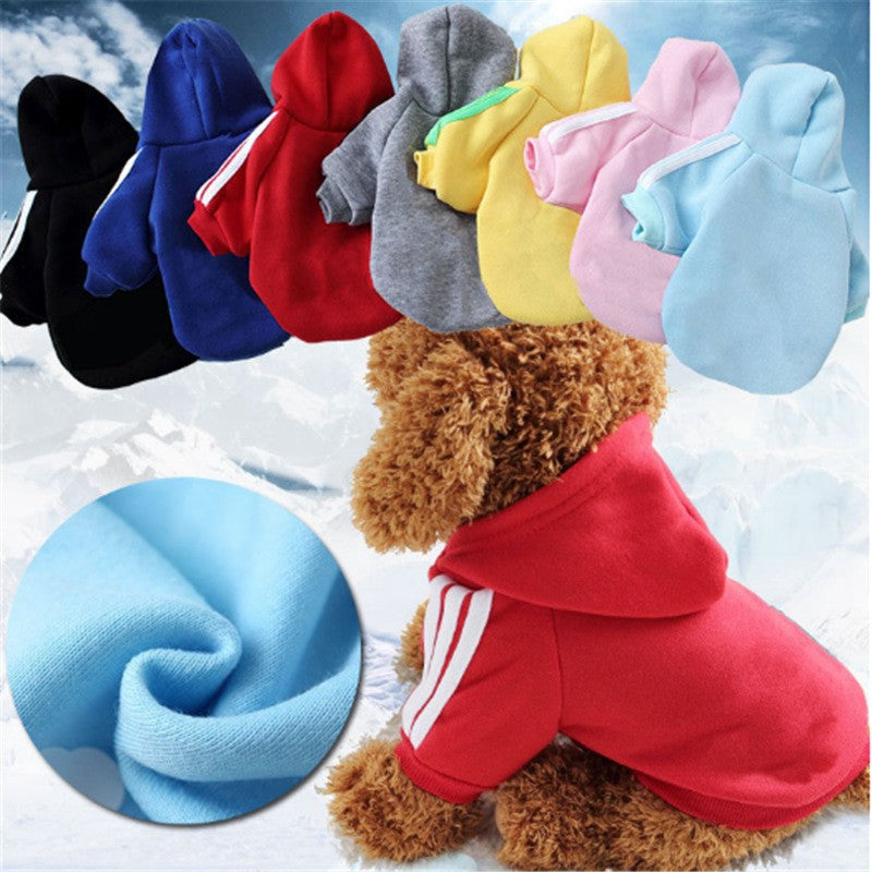 Pet dog clothes cotton hooded shirt pet jacket pet supplies