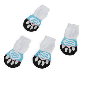 1 pair Creative Cat Coats Pet cat socks Dog Socks Traction Control for Indoor Wear L/M/S Cat Clothing Multicolor S M L 5