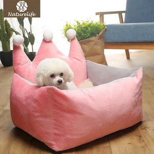 Top Selling Dog Beds Warm Dog Bed Removable Nonslip Crown Pet Bed Puppy Pink Deep Sleeping Dog Mat Support Dropshipping