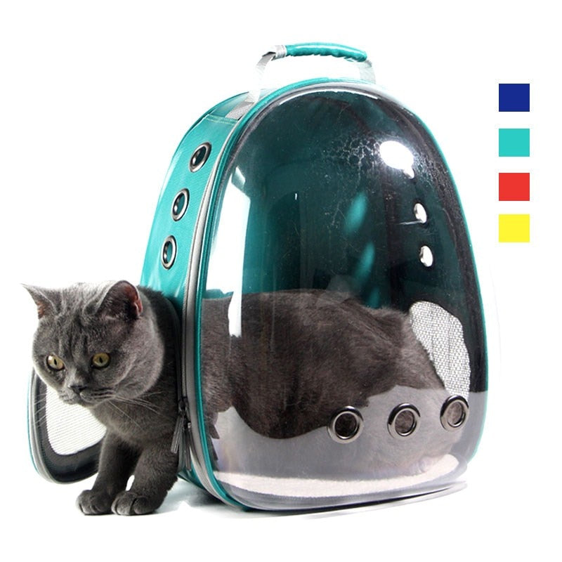 Top Selling Small Dog or Cat Carriers, Backpack Mesh Breathable Puppy Carrier Transparent Design Outdoor Travel Bag  Small Dog or Cat