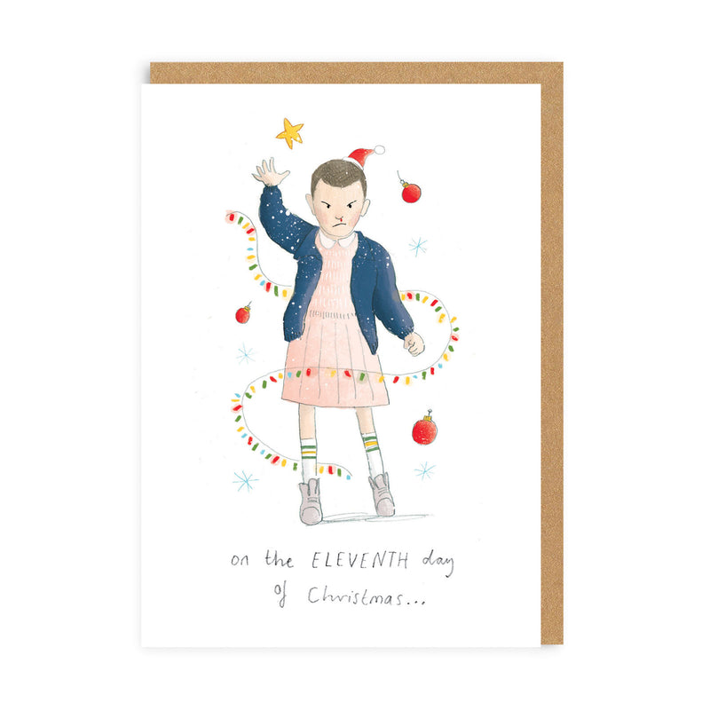 Eleventh Day Of Christmas Greeting Card