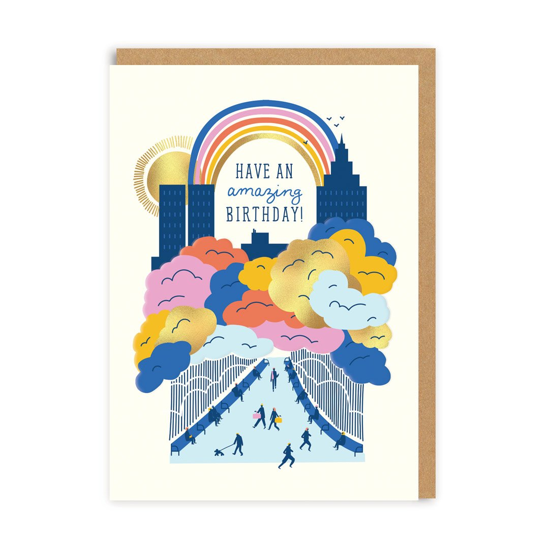 Have An Amazing Birthday City Greeting Card