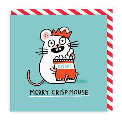 Merry Crispmouse Greeting Card