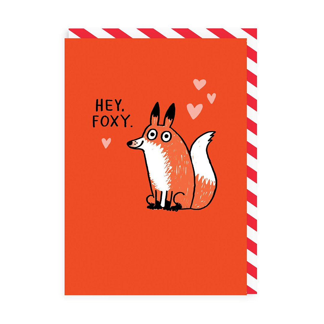 Hey Foxy Greeting Card