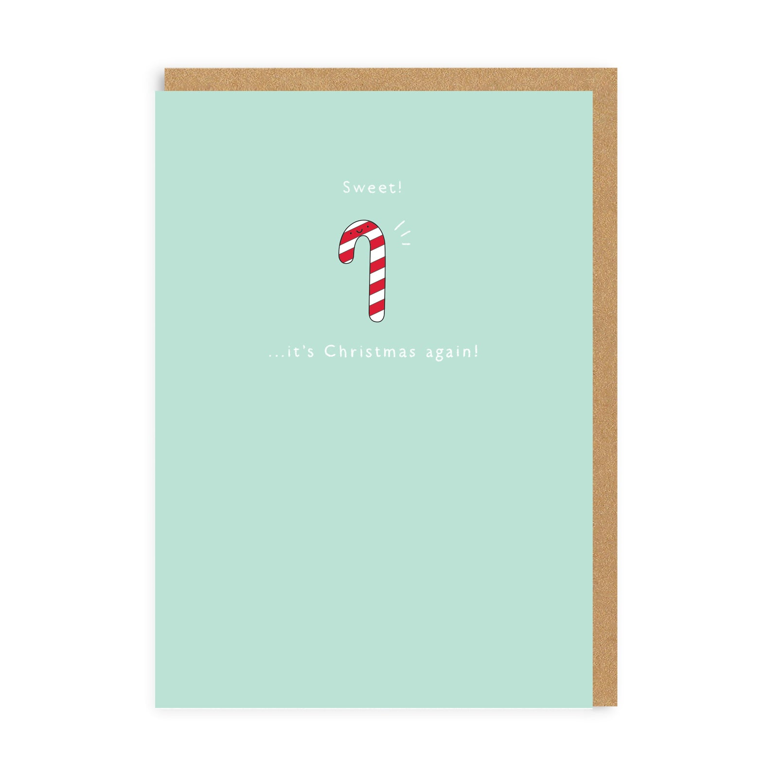 Sweet, It's Christmas Again! Enamel Pin Greeting Card