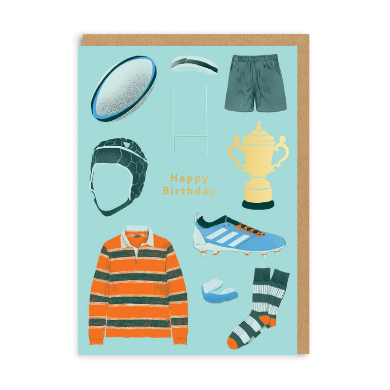 Happy Birthday Rugby Greeting Card