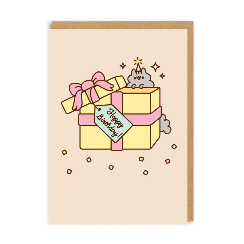 Happy Birthday Present With Tag Greeting Card