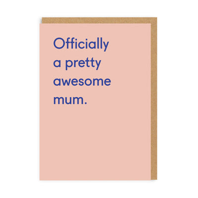 Awesome Mum Greeting Card