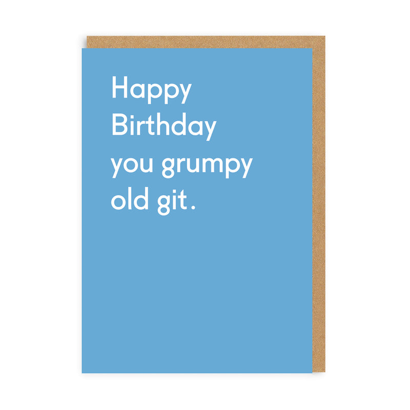 Grumpy Old Git Greeting Card