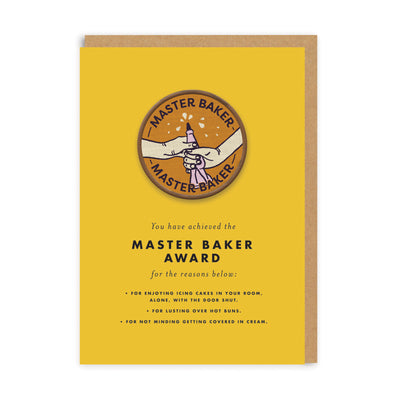 Master Baker Woven Patch Greeting Card