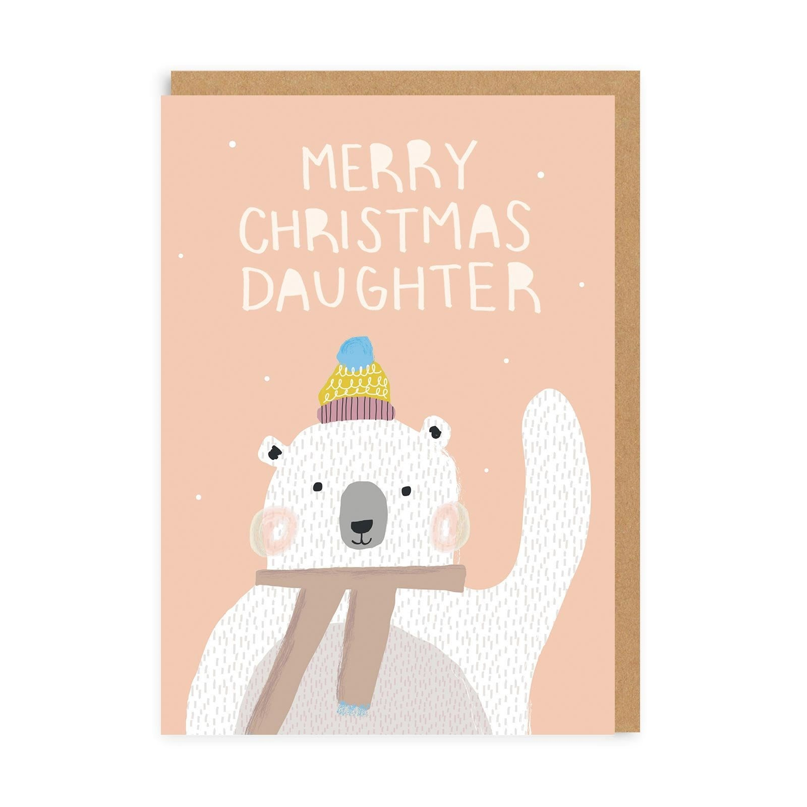 Christmas Daughter Bear Greeting Card