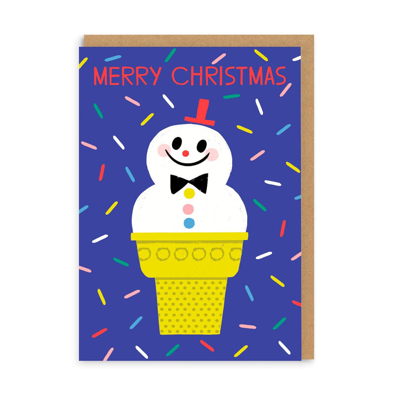 Merry Christmas Ice Cream Greeting Card